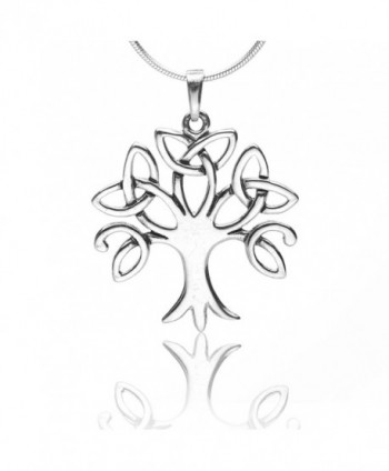 925 Sterling Silver Celtic Knot Trinity Tree of Life Pendant Necklace- 18 inches - Nickel Free - CD11GLWXJG5