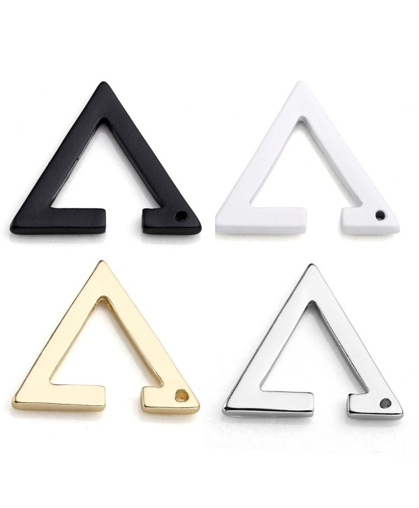 Stainless Triangle Earrings Cartilage 1 4Pairs - Mixed Color 4Pairs - CE11AL0K7YT
