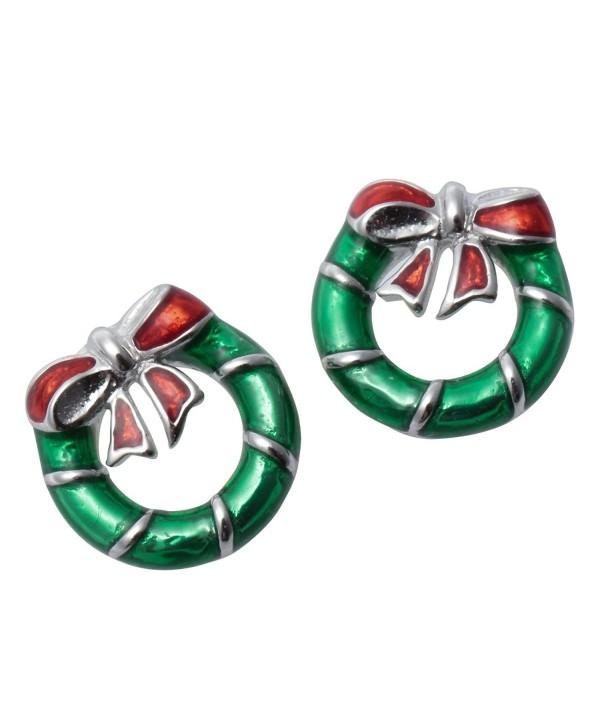 YACQ Jewelry 925 Stud Earrings Christmas Thanksgiving Hoildays Party Gift Women Teen Girl - CM187TELAEG