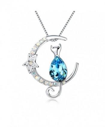 Pendant Circling Necklace Crystals Swarovski - CL187QW4ZRA