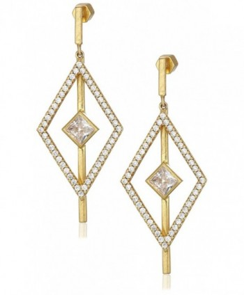 Nicole Miller Pyramid Pave Kite Drop Earrings - Gold - CL17YLXS5CS