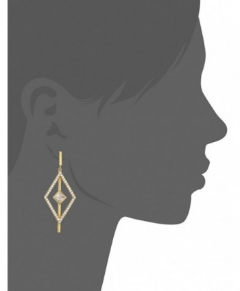 Nicole Miller Pyramid Pave Earrings