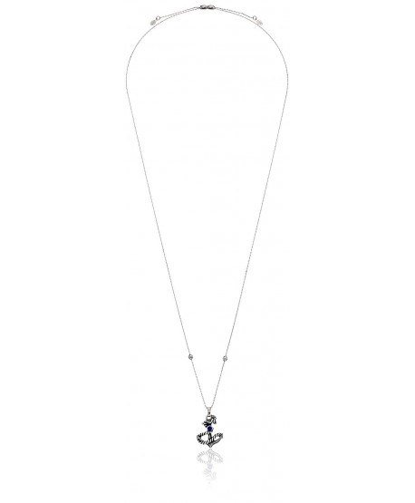 Alex and Ani Womens Anchor III Seaside Expandable Necklace - Rafaelian Silver - CT17YSSSOGW