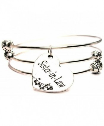 Sister-In-Law Expandable Triple Wire Adjustable Bracelet Made In The USA - CV11GMC6STJ