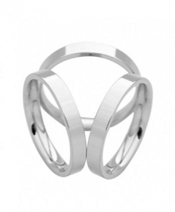 SHAN LI HUA Simple Design Three Rings Scarf Buckle Female scarf ring 18 k gold plated - Platinum Plating - CS184Q0IZ6L
