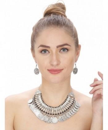Aradhya Women's Oxidized Silver Necklace With Earrings - C112OCH5A3C