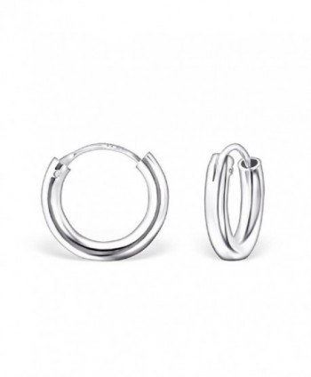 925 Sterling Silver Plain 16mm Endless Hoop Earrings 23455 - CF12E1GC1ZR