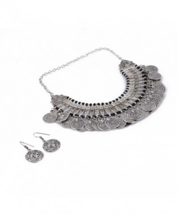 Aradhya Womens Oxidized Necklace Earrings in Women's Jewelry Sets