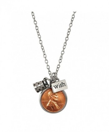 American Coin Treasures Wishing Well Penny Charm Necklace - C511RZPCXSH