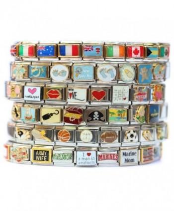 Fibromyalgia Medical Alert Italian Charm Bracelet Jewelry Link - CQ118COEPVD