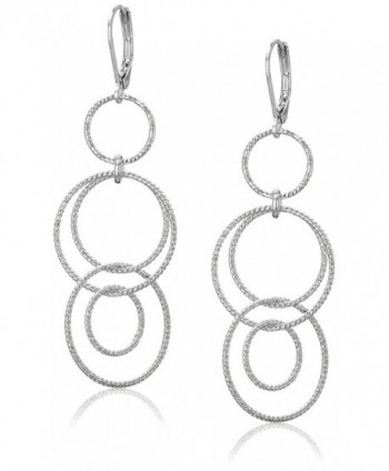 Anne Klein Circle Around Multi-Drop Earrings - Silver - CP12BYMP2BB