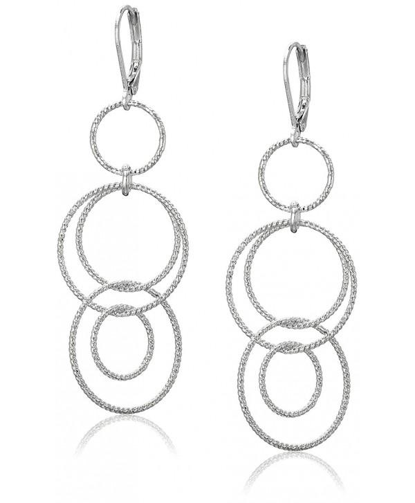 Anne Klein Circle Around Multi-Drop Earrings - Silver - CP12BYMP2BB