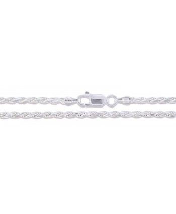 Sterling Silver Diamond Cut Chain Necklace