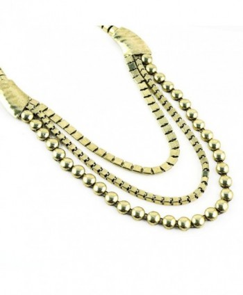 Womens Vintage Bronze Statement Necklace in Women's Choker Necklaces
