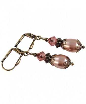 Teardrop Simulated Inspired Earrings Swarovski in Women's Drop & Dangle Earrings