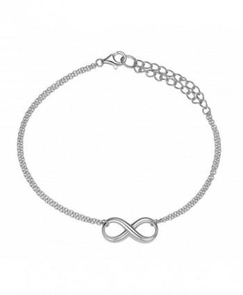 925 Sterling Silver Infinity Bracelet - CS12GRMRAWB