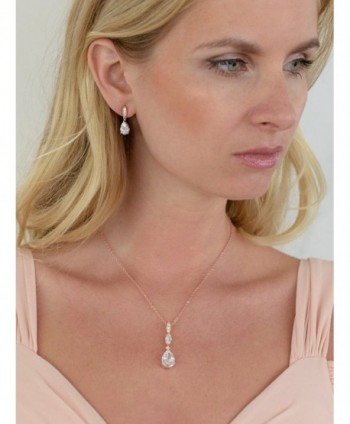 Mariell Teardrop Necklace Earrings Bridesmaids