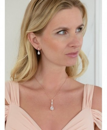 Mariell Teardrop Necklace Earrings Bridesmaids in Women's Jewelry Sets