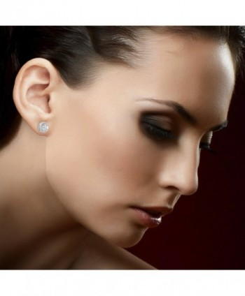 Lesa Michele Genuine Sapphire Sterling in Women's Stud Earrings