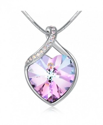 Angelady Guardian Necklace Swarovski Anniversary - Purple Pink-1 - CF184QA7Y2N