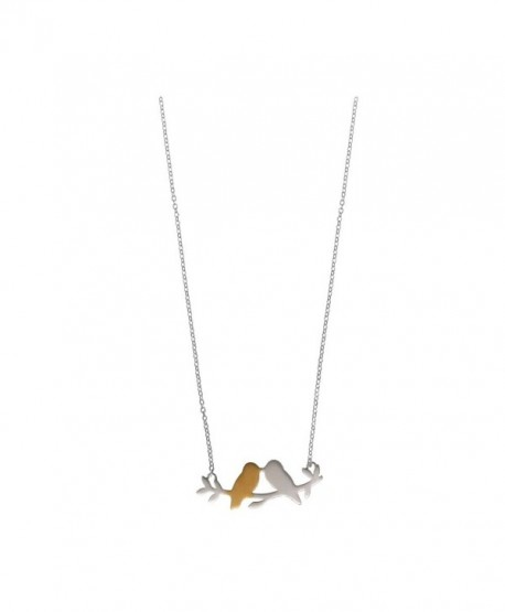 Boma Sterling Silver 18kt. Gold Washed Sterling Silver Love Birds Necklace- 16 inches - CY11C5HGNZT