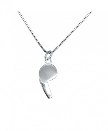 Helen de Lete Lovely Whistle Sterling Silver Necklace - CU12GYBSSSL