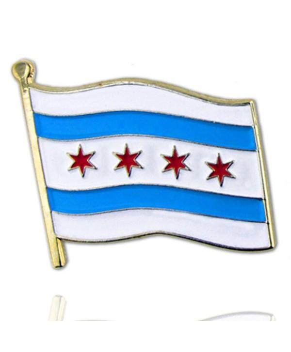PinMart's City of Chicago Flag Enamel Lapel Pin - CT110T89NIF