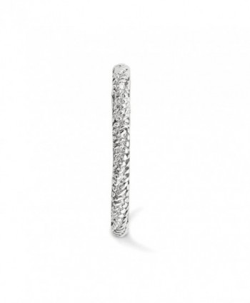 2 25mm Rhodium Sterling Stackable Textured in Women's Band Rings