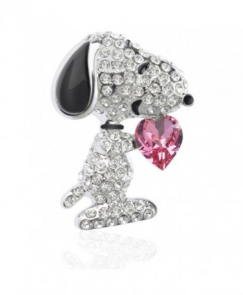 """Peacock Vintage Seahorse Brooches Corsages - """"Snoopy Design Pink Heart 1.26""""""""H"""" - CZ182K0U6YL"""