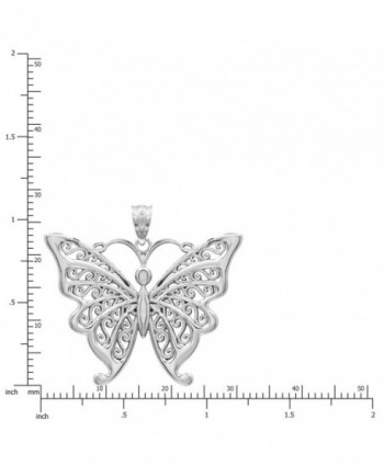 Sterling Butterfly Necklace Pendant Filigree