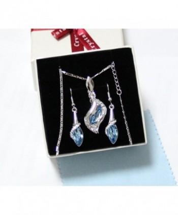 Fortunal ERS3 Teardrop Earrings Necklace in Women's Jewelry Sets
