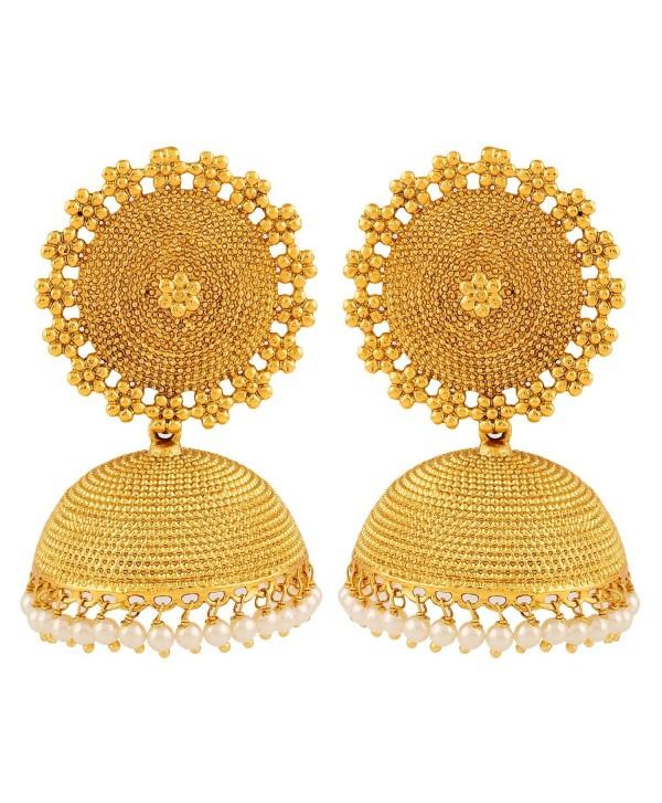 Adwitiya Collection 24K Gold Plated Designer Jhumki Earring for Women - CN12D3KD6O7