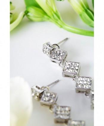 Earrings Rhinestone Crysral Earring rhombus in Women's Stud Earrings