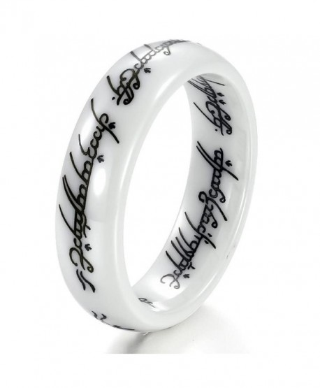 New Retro the Lord of the Rings White Ceramic Finger Band Words Top Quality 216 - CQ11BOKQWZ9