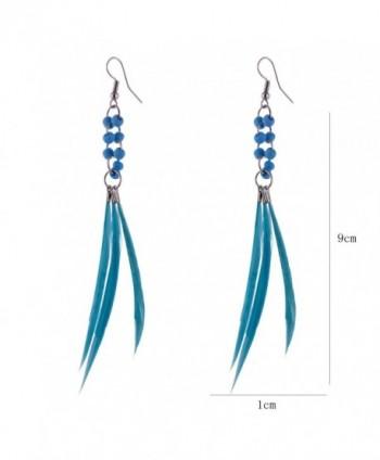 Colorful Bohemian Feather Dangle Drop Earring Gifts for Women Girls Jewelry000001000117