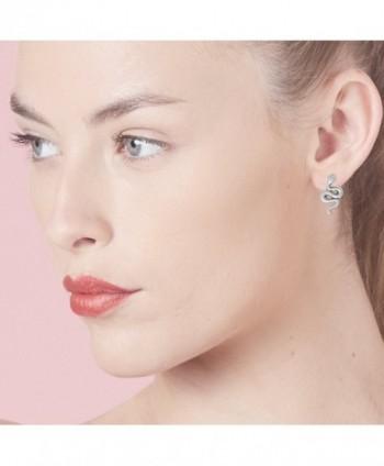 Boma Sterling Silver Snake Earrings in Women's Stud Earrings