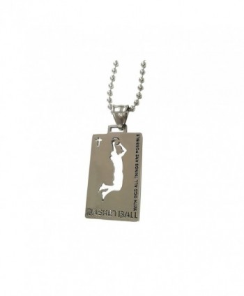 Christian Stainless Steel Basketball Necklace - CW12H5JNT1H