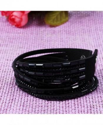 RoseSummer Fashion Wristband Rhinestone Bracelet in Women's Link Bracelets