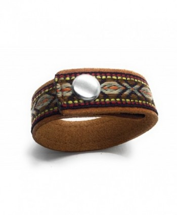 Most Wanted Natural Embroidered Bracelet in Women's Wrap Bracelets