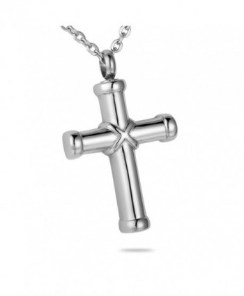 HooAMI Cremation Jewelry Hawser Cross Pendant Memorial Urn Necklace - CH127FX688J