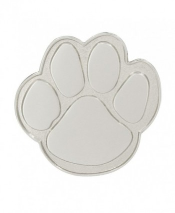 PinMart's Silver Animal Paw Print School Mascot Lapel Pin - C411TH95CX7