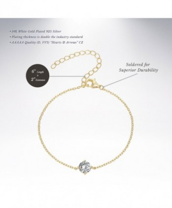 PAVOI Simulated Solitaire Diamond Bracelet