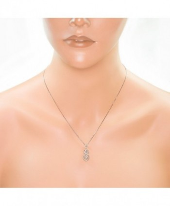 Sterling Silver Pineapple Necklace Pendant in Women's Pendants