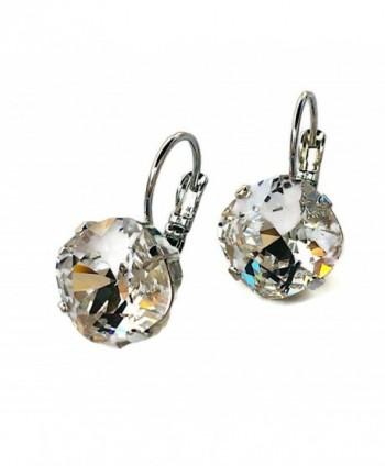 HisJewelsCreations Cushion Square Silvertone Earrings in Women's Drop & Dangle Earrings