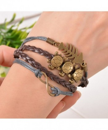 Souarts Handmade Multilayer Artificial Wristband
