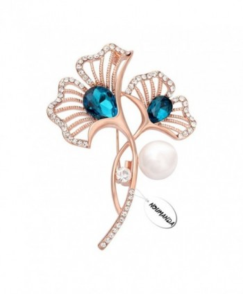 NOUMANDA Women Bijoux Pretty Bridesmaid Gift Calla Lily Flower with Pearl Brooch Pin - C712N33CFRY