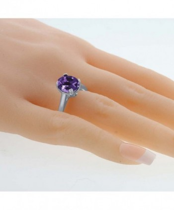 Sterling Silver Amethyst Diamond Available in Women's Wedding & Engagement Rings