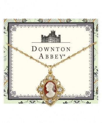 Downton Abbey Gold Tone Crystal Necklace