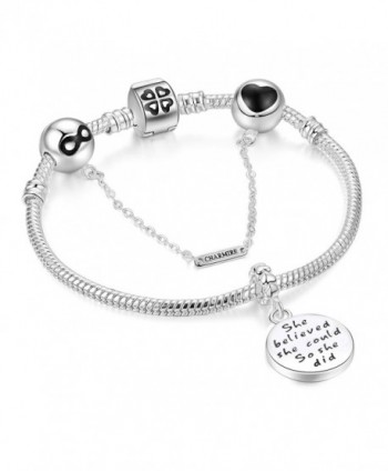 Bracelets Engraved believed Inspirational Jewelry
