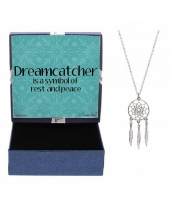 Dream Catcher Necklace Silver-Tone Dream Catcher Pendant Necklace Jewelry Box - CD12NGHJW0R